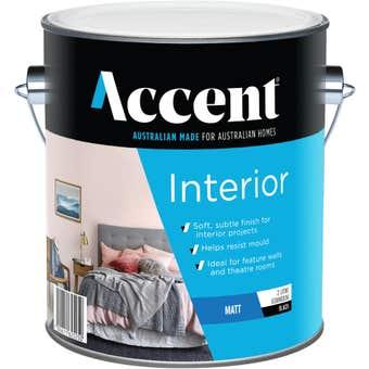 Accent Interior Matt Black 2L
