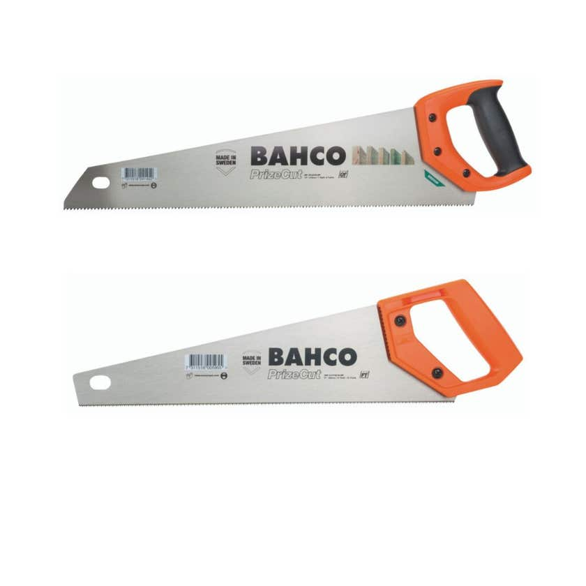 Bahco General purpose 475mm and Fine tooth Toolbox saw 350mm – 2 pack