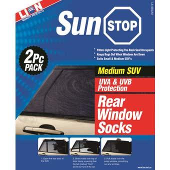 Lion Sunstop SUV Window Sock Rear Medium - 2 Piece