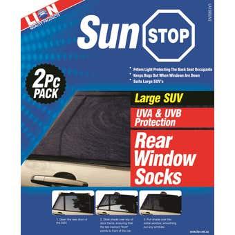 Lion Sunstop SUV Window Sock Rear Large - 2 Piece
