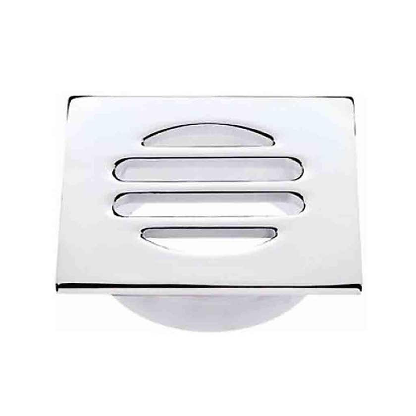 Mildon Grate Light Brass Square Screw Chrome 80 - 50mm