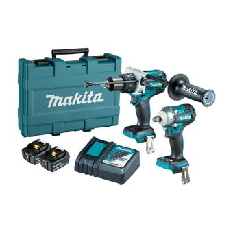 Makita 18V 5.0Ah Brushless Combo Kit - 2 Piece DLX2370T