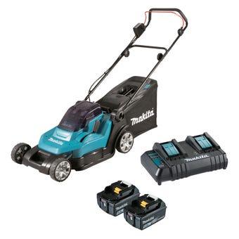 Makita 18vx2 2x5.0Ah Lawn Mower Kit 430mm DLM432CT2
