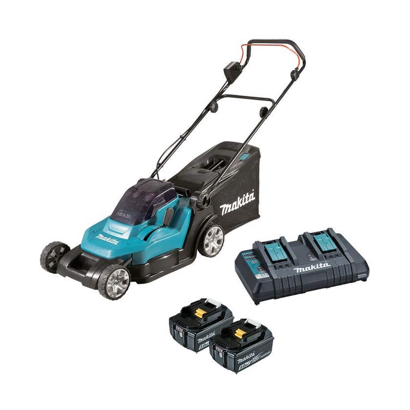 Makita 36V 2 x 5.0Ah Lawn Mower Kit 430mm DLM432PT2