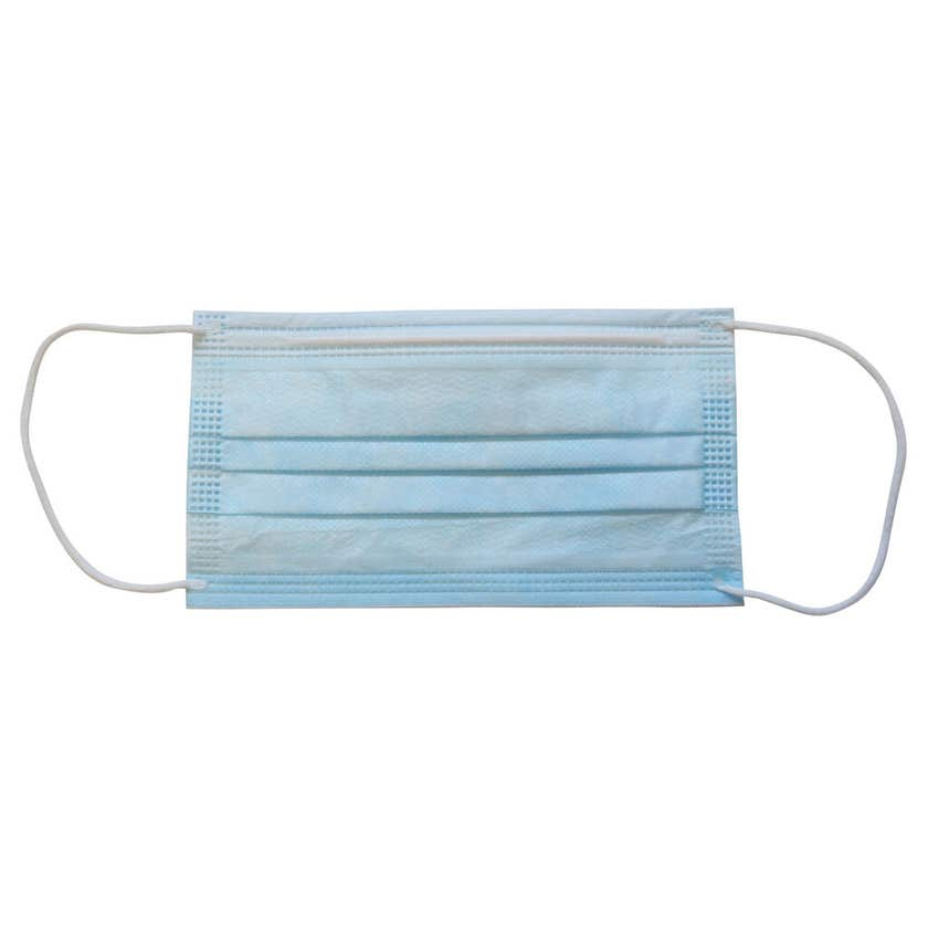Single Use Disposable Protective Face Mask - 10 Pack
