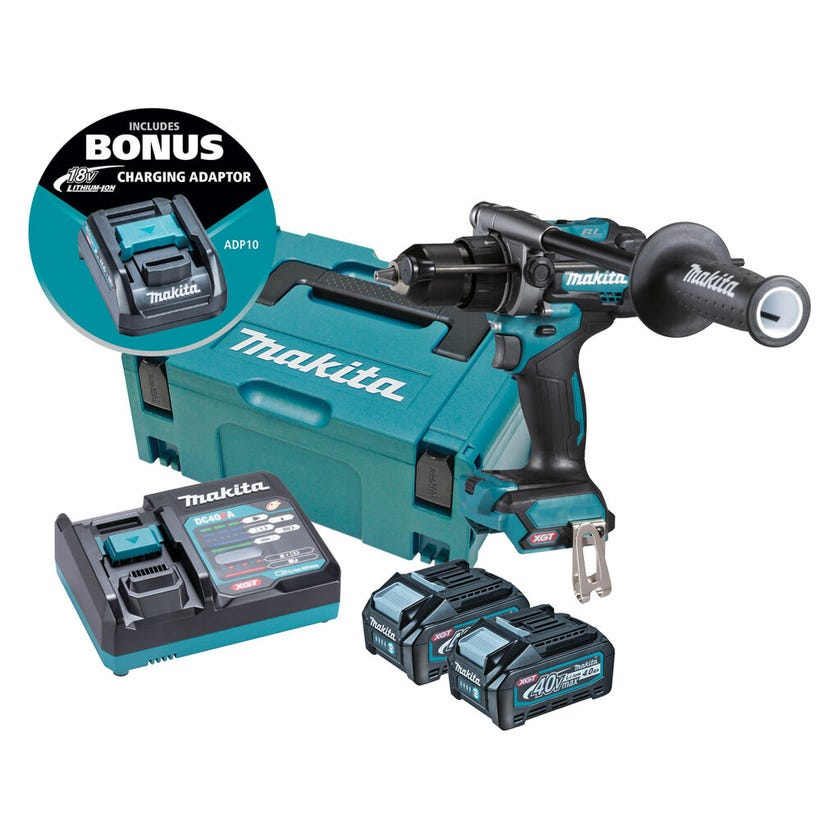 Makita 40V Max Brushless Hammer Driver Drill Kit HP001GM203
