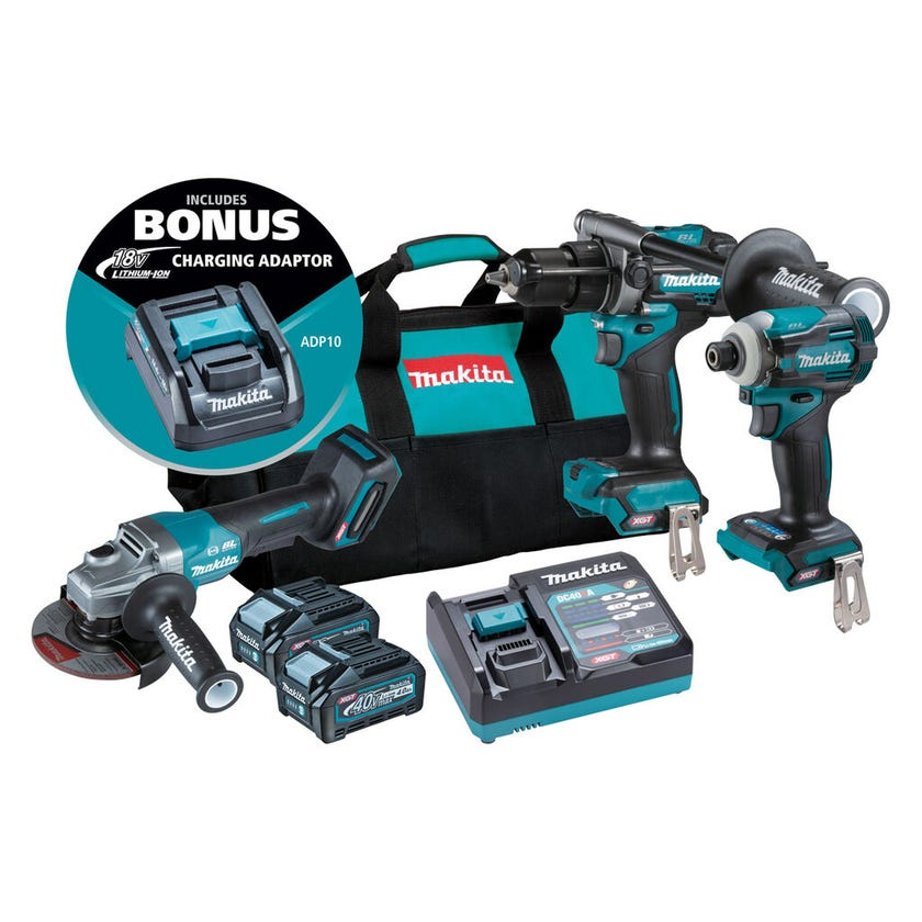 Makita 40V Max Brushless Combo Kit - 3 Piece DK0141G301
