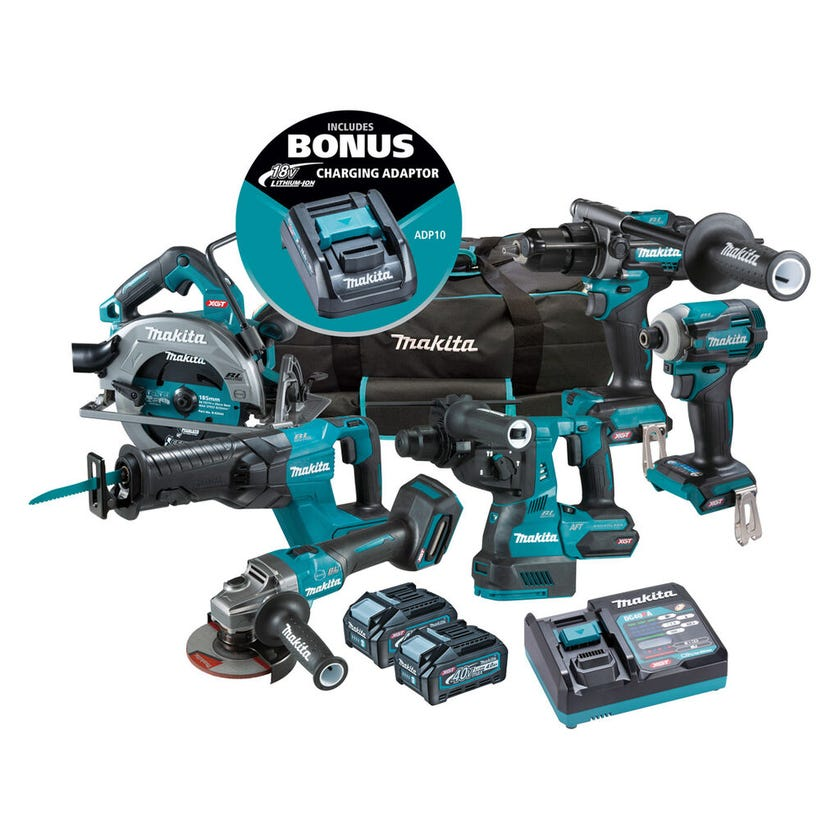 Makita 40V Max Brushless Combo Kit - 6 Piece DK0115G601