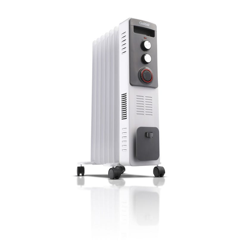 Goldair 7 Fin 1900W Dual Technology Oil Column Heater with Timer