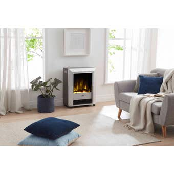 Dimplex Lee Silver Optiflame Portable Electric Fire 2KW