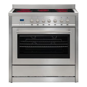Euromaid Freestanding Electric Oven with Ceramic Cooktop 900mm