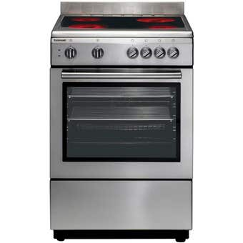 Euromaid Freestanding Electric Oven with Ceramic Cooktop 600mm