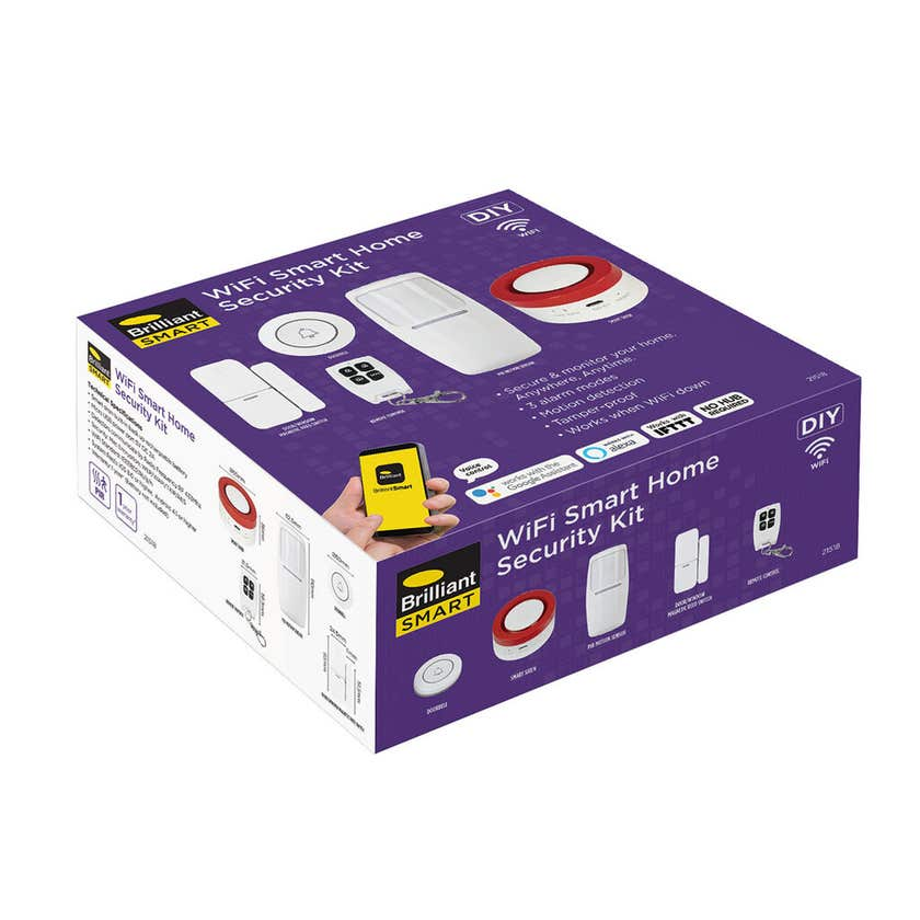 BrilliantSmart Wifi Home Security Kit