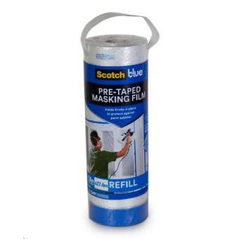 ScotchBlue Pre Taped Masking Film Refill 1.8 x 27.4m