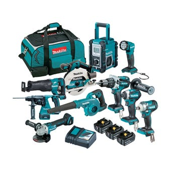 Makita 18V 5.0Ah Brushless Combo Kit - 10 Piece DLX1028TX1