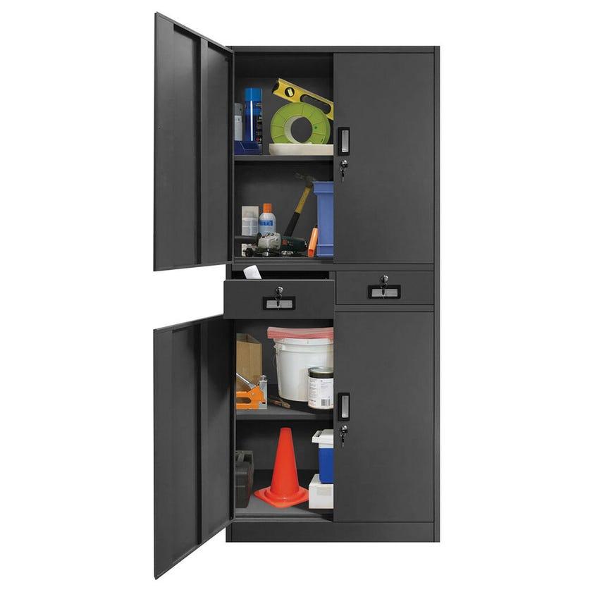 Garage Select™ 4 Door 2 Drawer Lockable Steel Cabinet