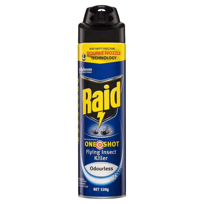 Raid One Shot Flying Insect Killer Odourless 320g