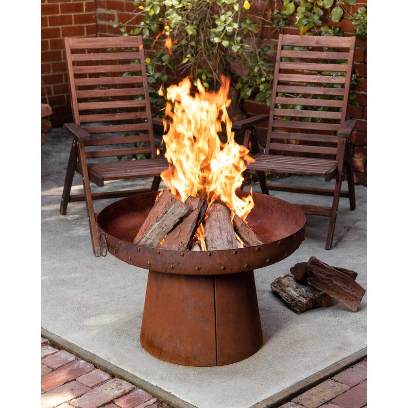 Glow Kali Indian Rusted Firepit