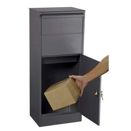 Sandleford Parcel Box Free Standing Matt Black