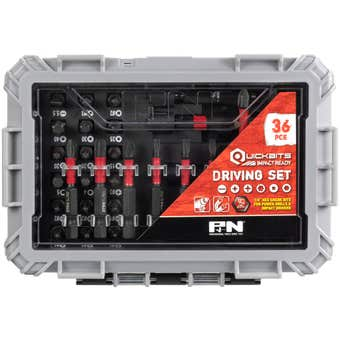 P&N Quickbits Drill Bit & Driver Set - 36 Piece