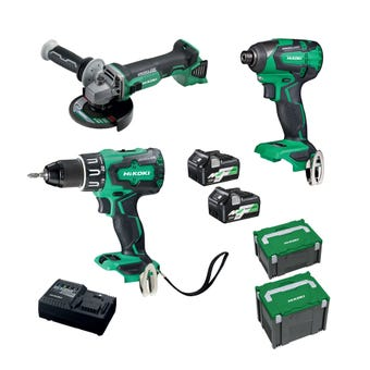 HiKOKI 18V Brushless Combo Kit - 3 Piece KC18DDBL(HCZ)