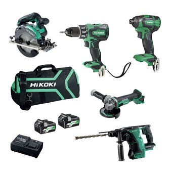 HiKOKI 18V Brushless Combo Kit - 5 Piece KC18D5P(HRZ)