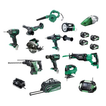 HiKOKI Multi Volt Brushless Combo Kit - 12 Piece KC36D12P(HRZ)