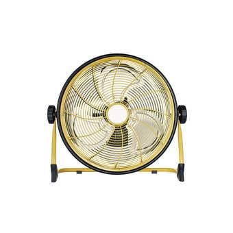 ROK Rechargeable Floor Fan Black Yellow 300mm