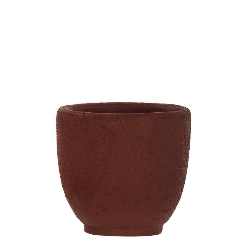 Orson Concrete Plant Pot Burgundy 120mm