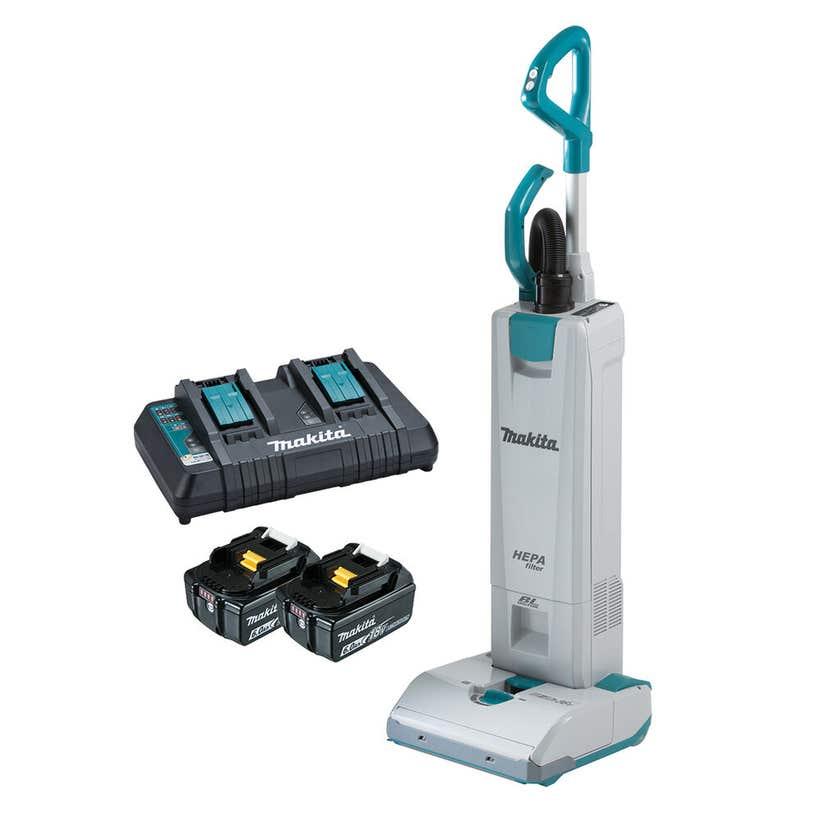 Makita 18V x 2 Brushless 2 x 6.0Ah Upright Vacuum Kit DVC560PG2