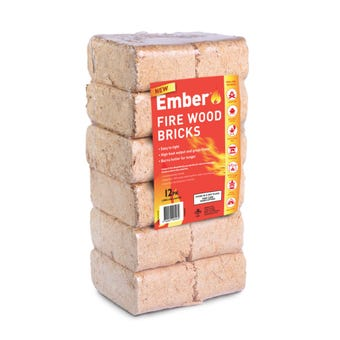 Ember Fire Wood Bricks 12 Pack