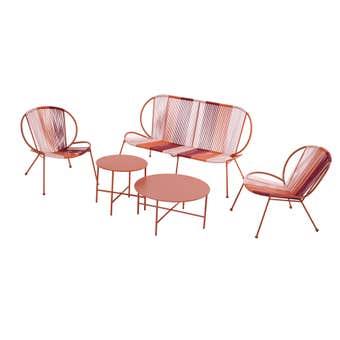 4 Seater Lounge Set Arizona Red