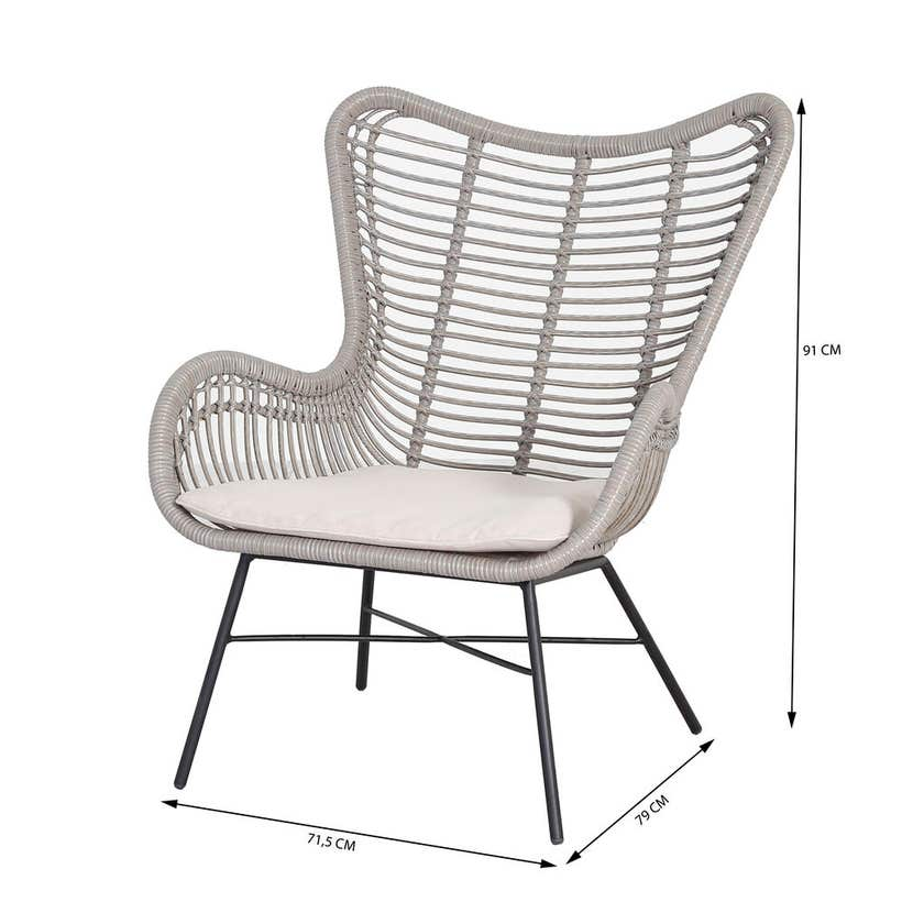Togo 4 Seater Wicker Lounge Setting
