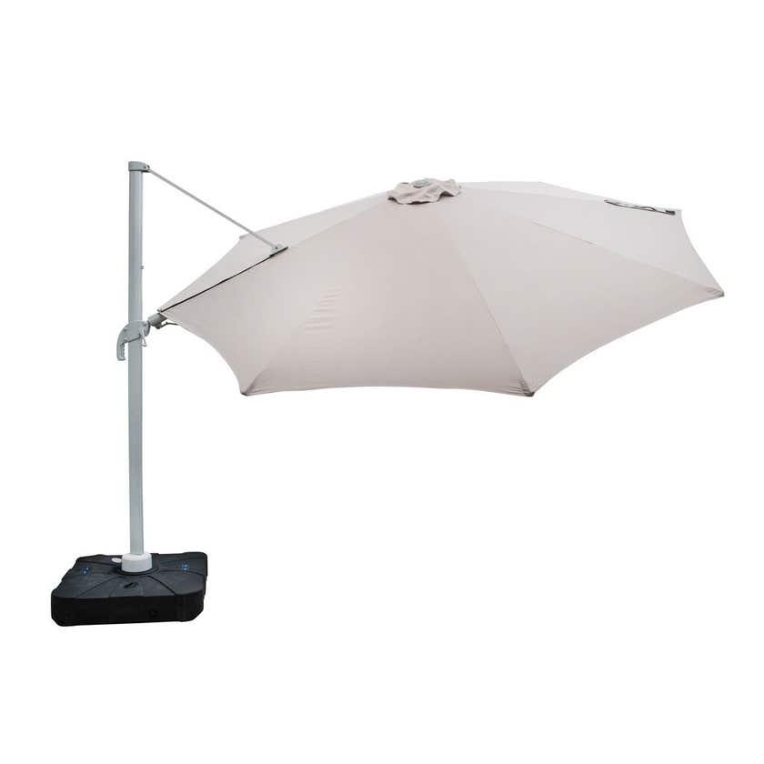 Coolaroo Barron Cantilever Umbrella with Base 3.5M