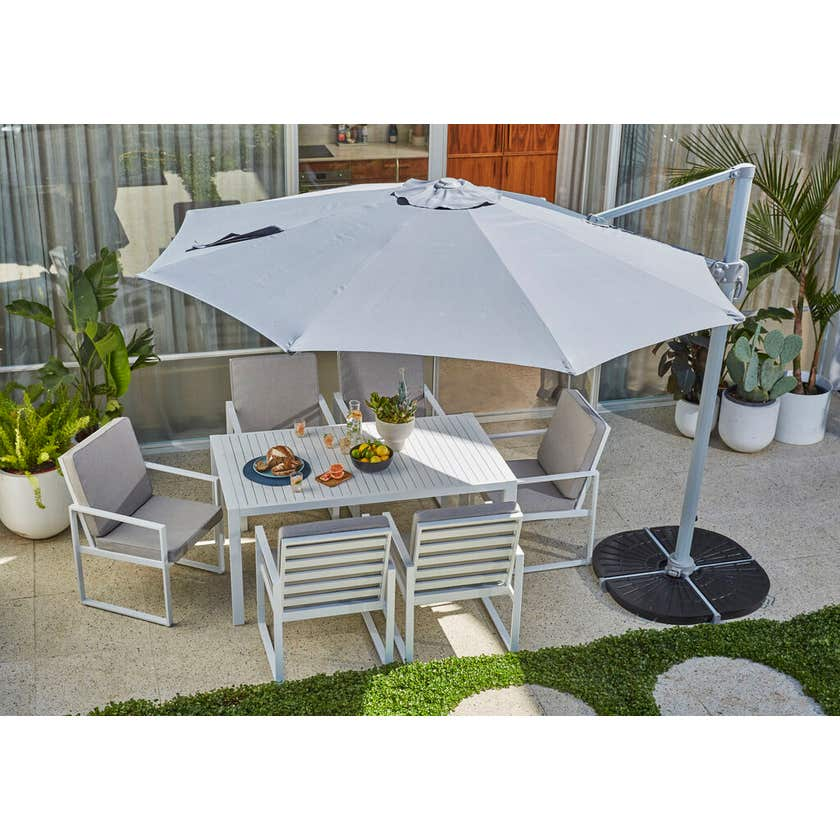 Aluminium Cantilever Umbrella Charcoal 2.95m