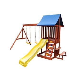 Swing Slide Climb Hillside Multi Playset