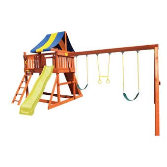 Swing Slide Climb Safari Multi Playset