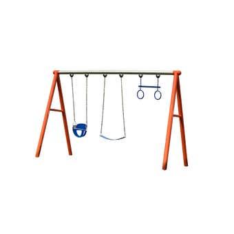 Swing Slide Climb Commercial 3 Swing Set