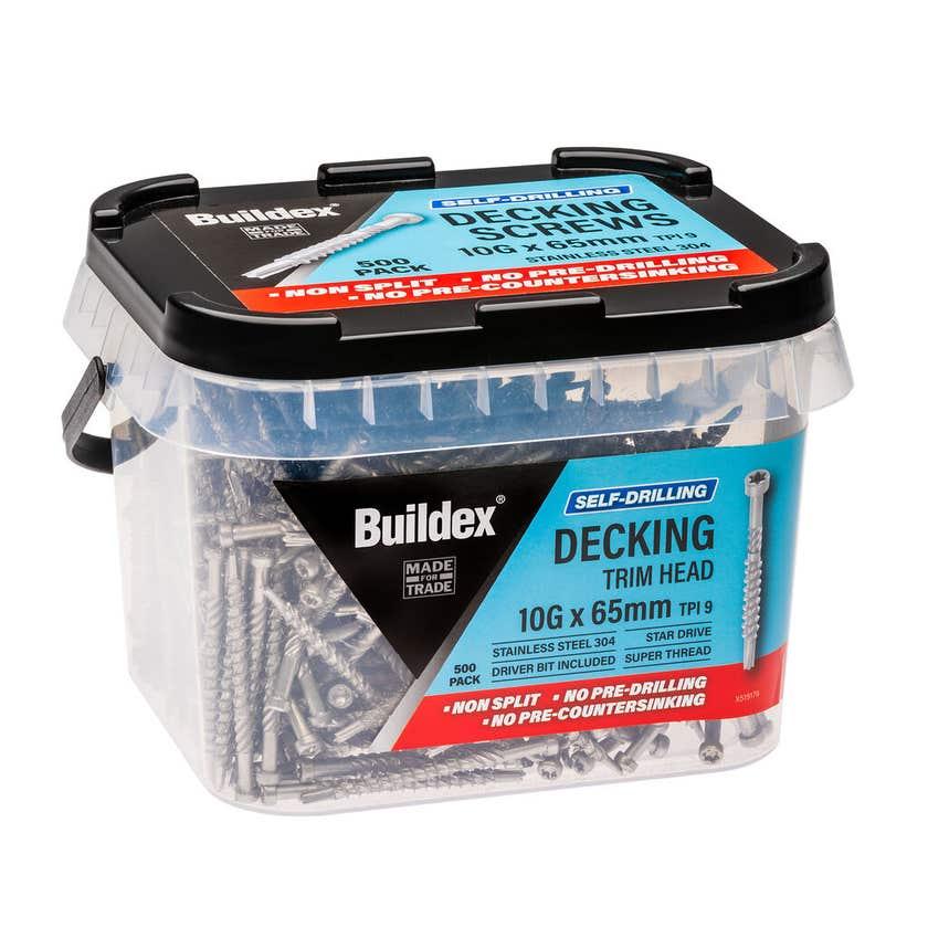 Buildex Self Drilling Decking Screw 10G x 65mm - Box of 500