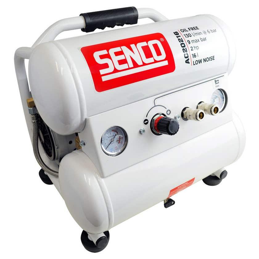 Senco Air Compressor Twin Tank 2.0HP Low Noise 16L