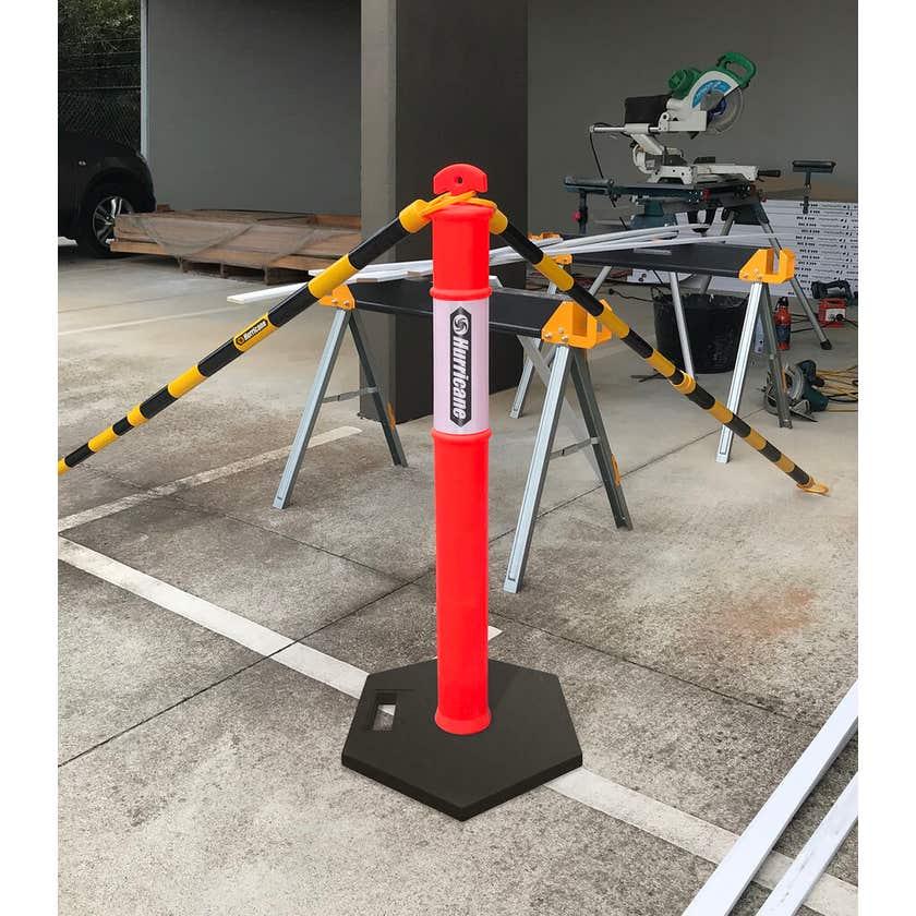 Hurricane 1.2m Safety Bollard with Reflective Tape