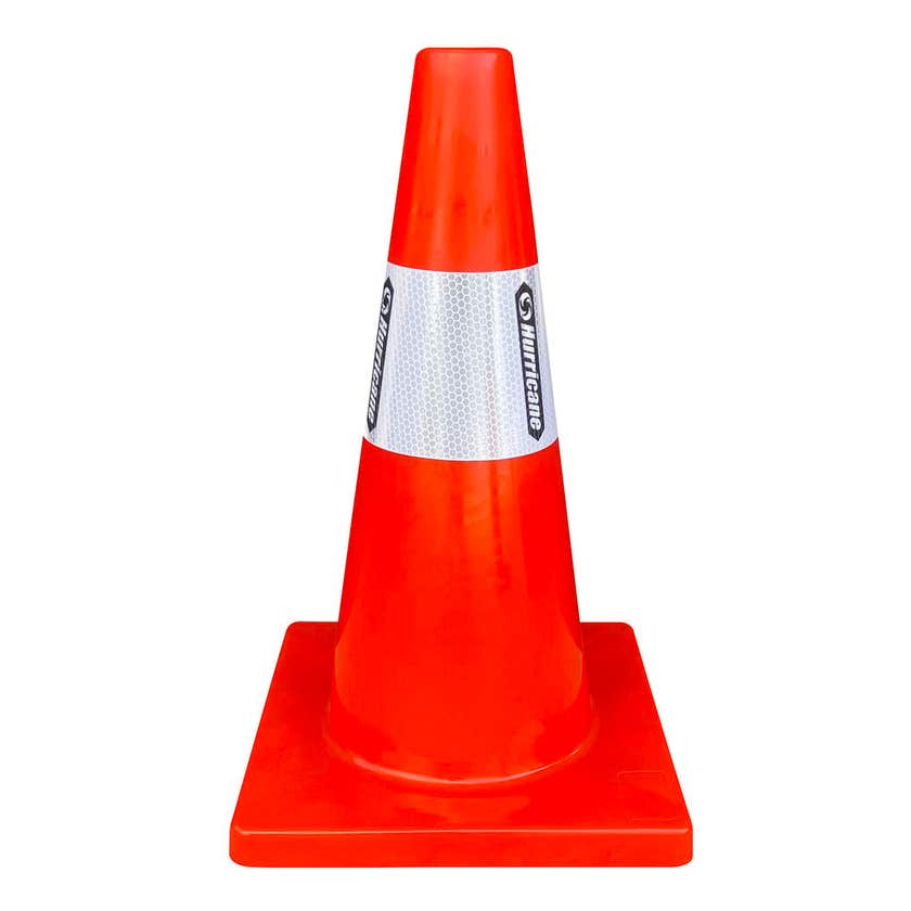 Hurricane Safety Traffic Cone with Reflective Tape 450mm