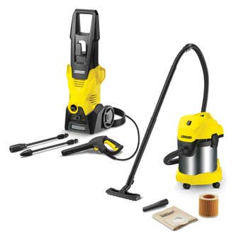 Karcher High Pressure Washer & Wet & Dry Vacuum Combo