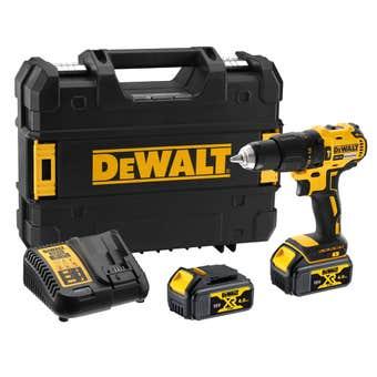 DeWALT 18V XR 4Ah Li-Ion Brushless Compact Hammer Drill Driver Kit