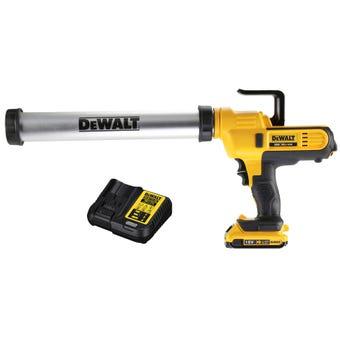 DeWALT 18V XR Li-Ion Caulking Gun 600mm Kit DCE580D1-XE