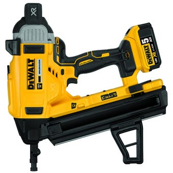 DeWALT 18V 5.0Ah XR Li-Ion Brushless Concrete Angled Nailer Kit DCN890P2-XE