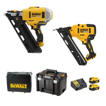 DeWALT 18V XR 5.0Ah Brushless Nailer Combo Kit - 2 Piece DCZ265P2-XE