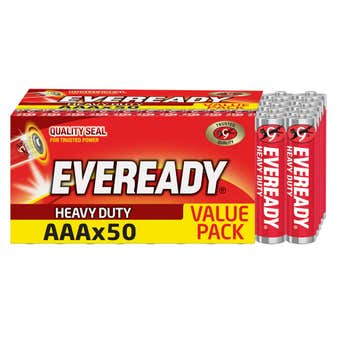 Eveready AAA HD Batteries - 50 Pack