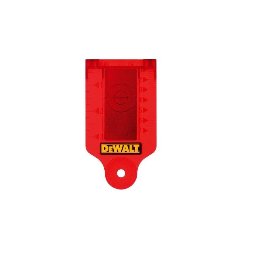 DeWALT Laser Target Card with Magnetic Base Red