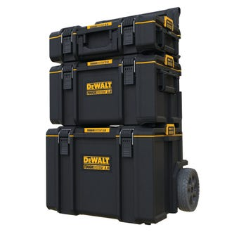 DeWALT TOUGHSYSTEM 2.0 3-in-1 Stackable Storage Tool Box System